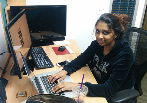 Shivani volunteering at Omni Nano